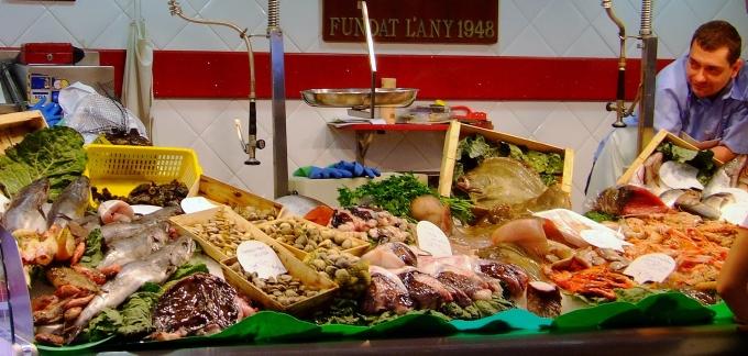 Italienischer Fischstand